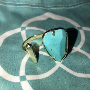 Kendra Scott Size 7 Turquoise Gold Ring